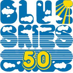 Blue Skies 50th Anniversary logo