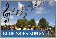 Button image showing musical notes over Blue Skies that links to the Songs page